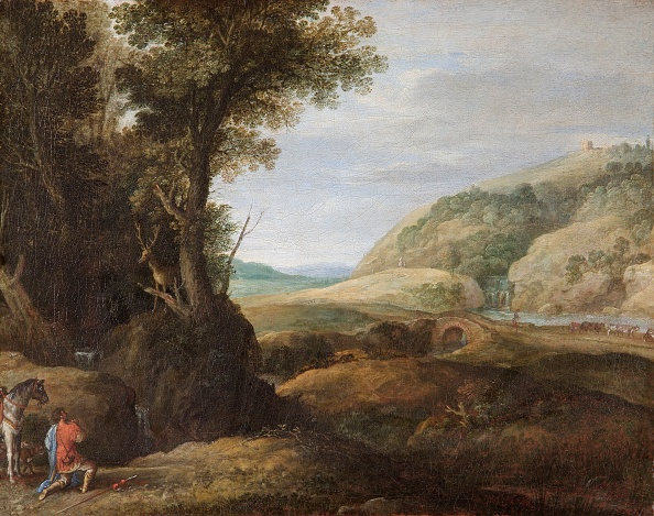 Stag「Landscape With St Hubert And The Stag,」:写真・画像(16)[壁紙.com]