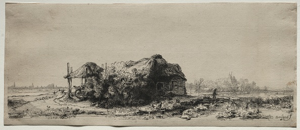 Rectangle「Landscape With A Cottage And Hay Barn: Oblong」:写真・画像(7)[壁紙.com]