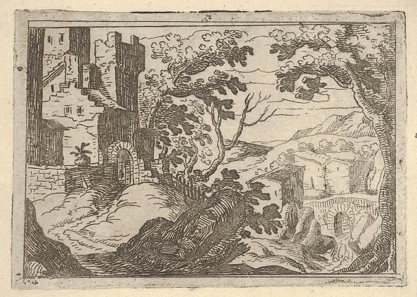 Etching「Landscape With Buildings To The Left And A Bridge At Right Below」:写真・画像(17)[壁紙.com]