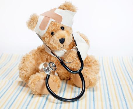 Stuffed Animals「Injured Teddy Bear with Stethoscope」:スマホ壁紙(14)