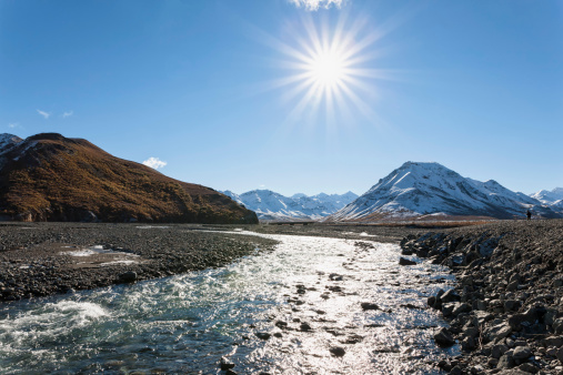 アラスカ「USA, Alaska, View of Toklat River at Denali National Park」:スマホ壁紙(0)