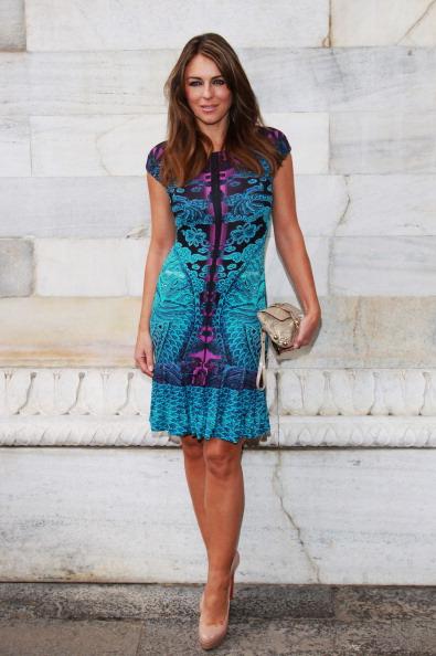 Flounced Dress「Roberto Cavalli - Front Row - Milan Fashion Week Womenswear S/S 2013」:写真・画像(6)[壁紙.com]