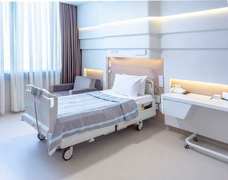 Waiting「Hospital room with beds and comfortable medical equipped」:スマホ壁紙(1)