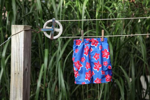 Wooden Post「Swimsuit on Clothesline」:スマホ壁紙(13)