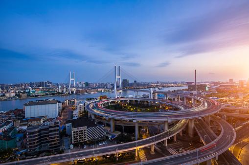 City Life「shanghai nanpu bridge at night」:スマホ壁紙(10)