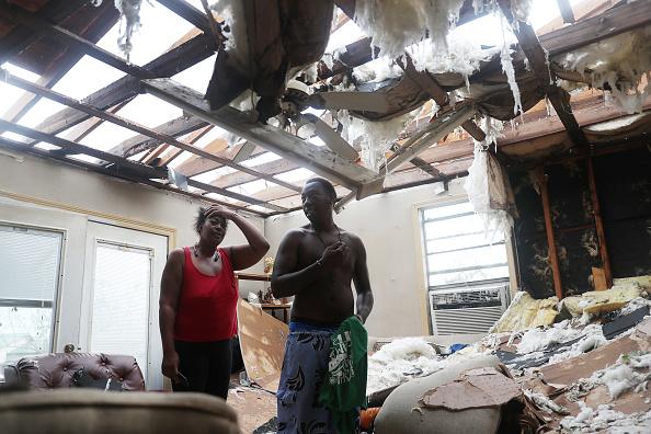 Damaged「Hurricane Laura Makes Landfall On US Gulf Coast」:写真・画像(10)[壁紙.com]
