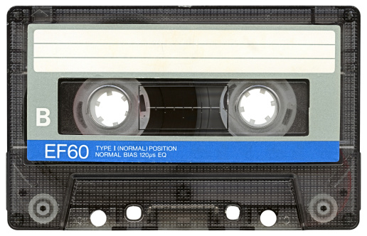1980-1989「Hi-res Audio Cassette with clipping path on white background」:スマホ壁紙(15)