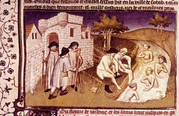 Religious Celebration「Pilgrims on the road to Saint Jacques de Compostelle, illumination, 15th century」:写真・画像(7)[壁紙.com]