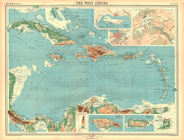 North America「Geographical Map Of The West Indies Artist Unknown」:写真・画像(19)[壁紙.com]