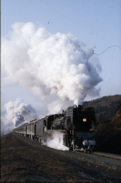 Recreational Pursuit「A China Railway's JS Mikado 2-8-2 climbs away from Nancha in Heilongjiang Province with the 10:35 passenger train to Yichun. The exhaust from the QJ 2-10-2 banking can be seen in the background.」:写真・画像(4)[壁紙.com]