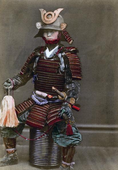 戦国武将「A samurai in armour, Japan, 1882. Artist: Felice Beato」:写真・画像(6)[壁紙.com]