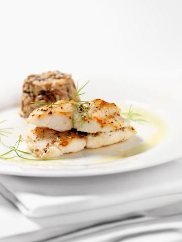 Seafood「White Fish with Wild Rice & Garlic Butter Sauce」:スマホ壁紙(12)