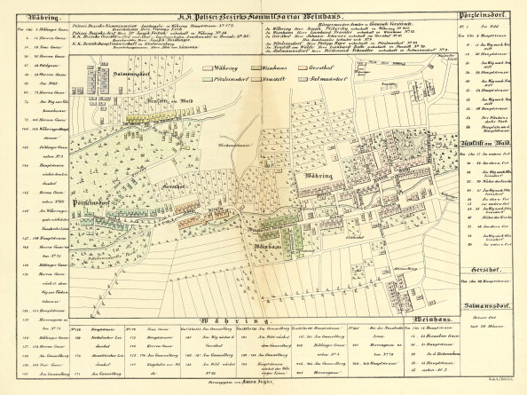 Middle Class「Plan of Weinhaus. Vienna. From: Wiens Umgebung. Edited by Anton Ziegler. Colored Lithograph. 1859」:写真・画像(5)[壁紙.com]