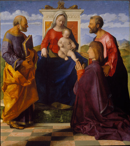 Painted Image「Virgin And Child With Saint Peter」:写真・画像(15)[壁紙.com]