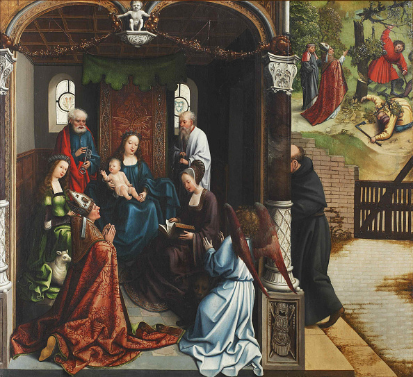 Oil On Wood「Virgin And Child Adored By Saint Martin」:写真・画像(8)[壁紙.com]
