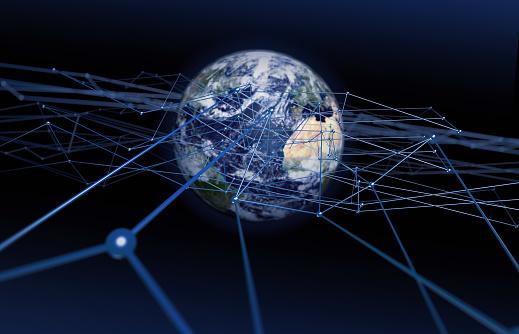 Planet Earth「Global network」:スマホ壁紙(6)
