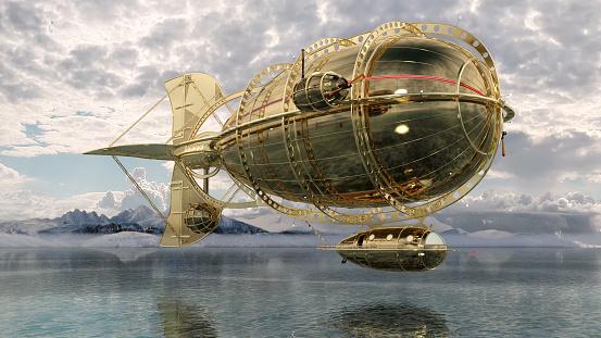 Airship「Golden Airship and Aircraft」:スマホ壁紙(10)