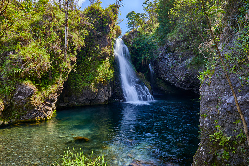 Shallow「Hanawi falls,Road to Hana,Hana,Maui,Hawaii,USA」:スマホ壁紙(10)