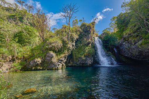 Shallow「Hanawi falls,Road to Hana,Hana,Maui,Hawaii,USA」:スマホ壁紙(16)