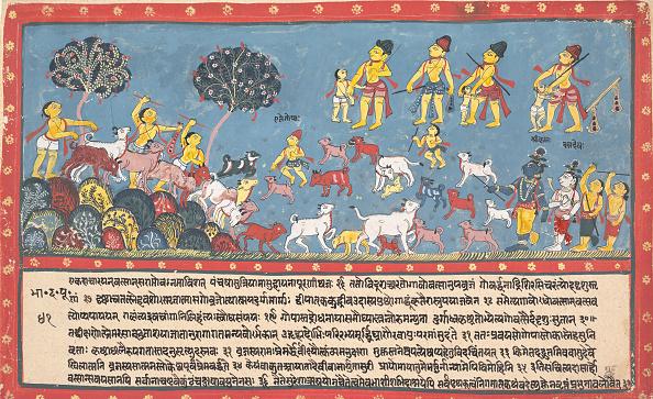 Blue Background「Krishna」:写真・画像(4)[壁紙.com]