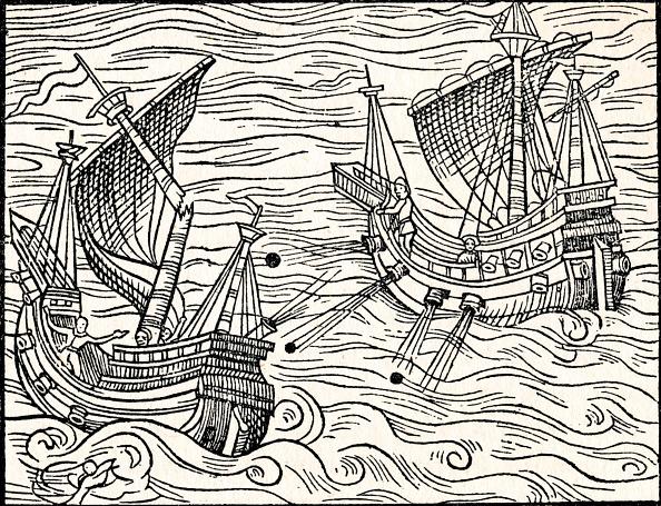 16世紀のスタイル「'Engagement Between Two Merchant Ships Off The Coast of Iceland', 1555」:写真・画像(9)[壁紙.com]