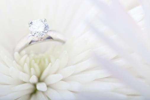 結婚「婚約指輪ホワイトのデイジー」:スマホ壁紙(15)