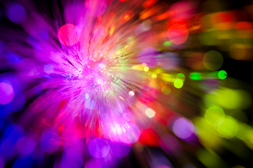 fireworks「Sparkle of defocused lights. Abstract background」:スマホ壁紙(1)