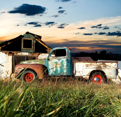 Rusty「Vintage Truck in Rural New Mexico」:スマホ壁紙(19)