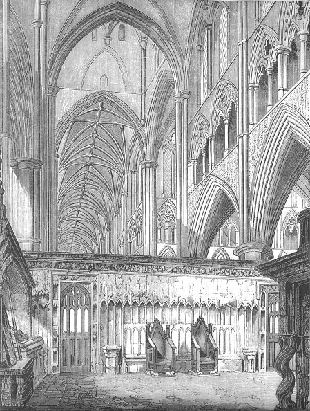 Ceiling「The Nave, Westminster Abbey, looking West from St Edward's Chapel', 1845」:写真・画像(19)[壁紙.com]