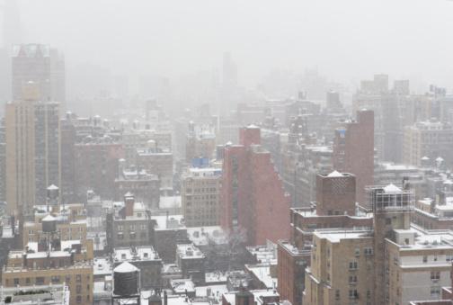 吹雪「Cityscape in winter」:スマホ壁紙(13)