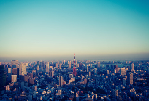 Tokyo - Japan「Cityscape in Tokyo at sunset elevated view」:スマホ壁紙(5)
