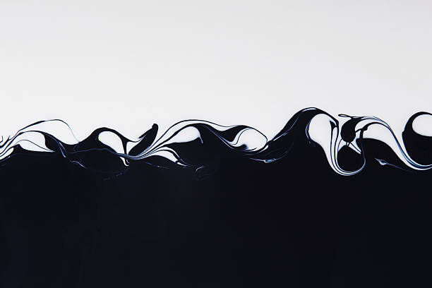 Black and White Paint Mixing:スマホ壁紙(壁紙.com)
