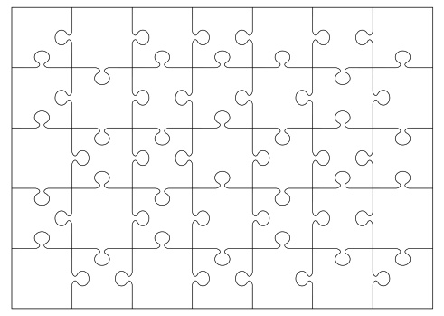 Vector「Black and white jigsaw or puzzle outline that you can overlay on to your own image or picture」:スマホ壁紙(16)