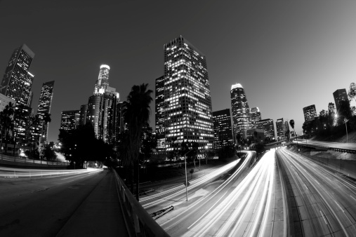 Angeles National Forest「Black and White Fisheye Motion Blur of Los Angeles」:スマホ壁紙(1)