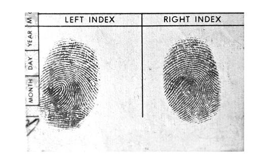 Emergency Services Occupation「Black and White Fingerprints」:スマホ壁紙(4)