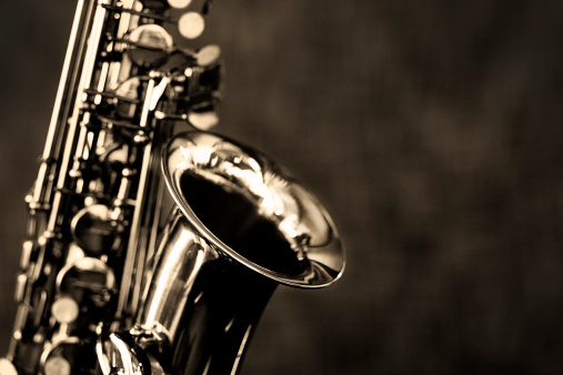 Rock Music「Black and white close up of alto saxophone」:スマホ壁紙(12)