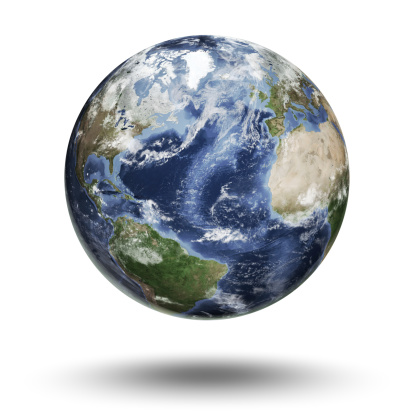 Clip Art「Floating globe focused on the Atlantic Ocean」:スマホ壁紙(2)