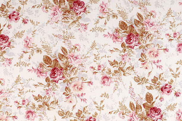 Old World Rose Antique Floral Fabric:スマホ壁紙(壁紙.com)