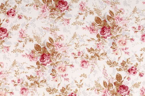 Floral Pattern「Old World Rose Antique Floral Fabric」:スマホ壁紙(12)