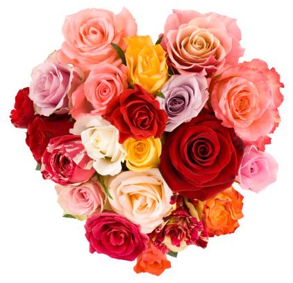 バレンタイン「美しいバラの花束」:スマホ壁紙(3)