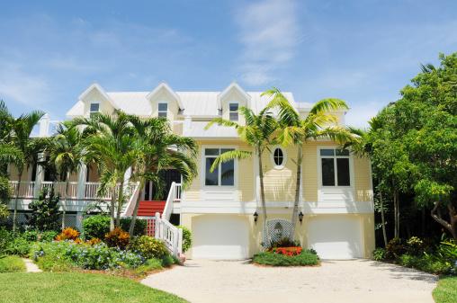 豪華 ビーチ「美しいビーチハウスのサニベル島フロリダ州」:スマホ壁紙(5)