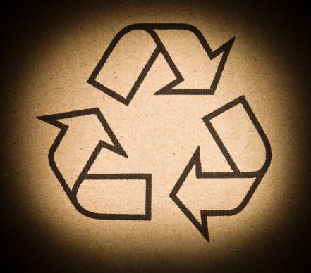 Life Cycle「Recycling Symbol on Cardboard」:スマホ壁紙(12)