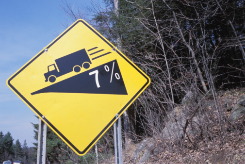Steep「Sloping road sign」:スマホ壁紙(6)