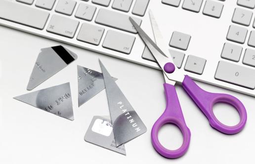 Computer Keyboard「Cut up credit card on keyboard」:スマホ壁紙(0)