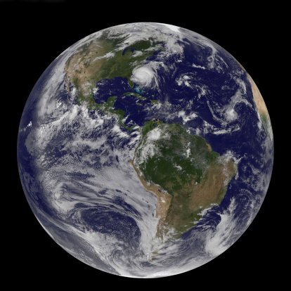 Whole「August 26, 2011 - Satellite view of a Full Earth with Hurricane Irene visible on the United States East Coast.」:スマホ壁紙(12)