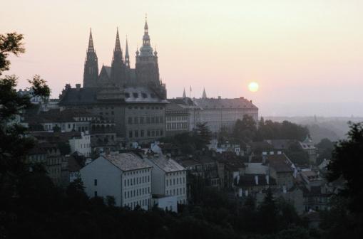 St Vitus's Cathedral「St. Vitus Cathedral and Sunrise, Prague」:スマホ壁紙(14)