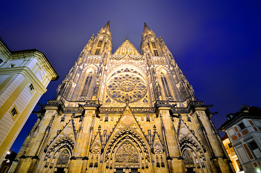St Vitus's Cathedral「St. Vitus cathedral in night」:スマホ壁紙(8)