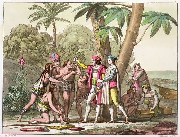 Discovery「Christopher Columbus With Native Americans 1492-1503 (circa 1820-1839)」:写真・画像(0)[壁紙.com]