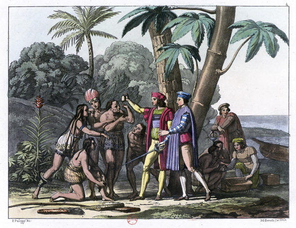 Christopher Columbus - Explorer「Christopher Columbus arriving in the New World, 1492 (1817-1826). Artist: Bonatti」:写真・画像(10)[壁紙.com]