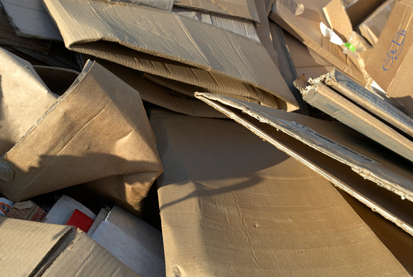 Recycling「Cardboard in a skip, Peterborough recycling centre, Cambridgeshire, UK」:写真・画像(5)[壁紙.com]